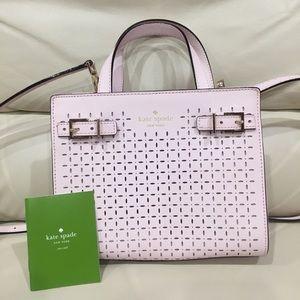 HP🎉 Kate Spade Laser Cut Pink Satchel Purse Bag